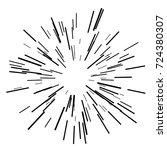 sun burst  star burst sunshine. ... | Shutterstock .eps vector #724380307