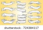 white ribbon banners set....   Shutterstock .eps vector #724384117