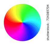 color wheel. abstract colorful... | Shutterstock . vector #724385704