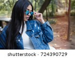 close up lifestyle fashion... | Shutterstock . vector #724390729