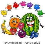 cartoon illustration of primary ... | Shutterstock . vector #724391521