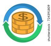 logo icon   illustration for... | Shutterstock .eps vector #724391809