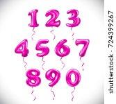 raster copy pink number 1  2  3 ... | Shutterstock . vector #724399267