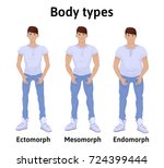 constitution of human body. man ... | Shutterstock .eps vector #724399444