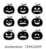 laser cut set of a scary... | Shutterstock .eps vector #724412359