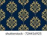 seamless vintage ornament on... | Shutterstock .eps vector #724416925