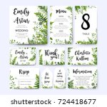 wedding invite  invitation menu ... | Shutterstock .eps vector #724418677