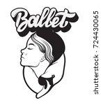 ballet. vector handwritten... | Shutterstock .eps vector #724430065