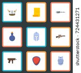 flat icons parchment  viking... | Shutterstock .eps vector #724431271