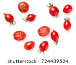 cherry tomatoes  top view | Shutterstock . vector #724439524