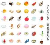 chef icons set. isometric style ...   Shutterstock .eps vector #724439749