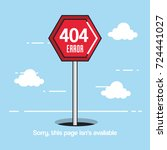 404 connection error icons | Shutterstock .eps vector #724441027