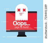 oops page no found concept | Shutterstock .eps vector #724441189