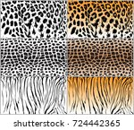 set animal pattern texture...