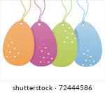 Set Of 4 Colorful Easter Sale...