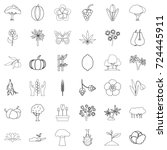 grow icons set. outline style... | Shutterstock .eps vector #724445911