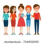 group of teachers cartoon | Shutterstock .eps vector #724452055