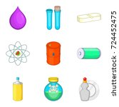 narcotic icons set. cartoon set ...   Shutterstock .eps vector #724452475