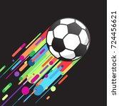 football ball flying. soccer... | Shutterstock .eps vector #724456621