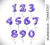 raster copy purple number 1  2  ... | Shutterstock . vector #724457257