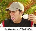 expressive young man portrait... | Shutterstock . vector #72446086