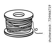 line nylon fish object to...   Shutterstock .eps vector #724466719