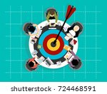 concepts for business analysis... | Shutterstock .eps vector #724468591