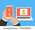 two steps authentication... | Shutterstock .eps vector #724470931