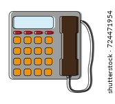 telephone icon image | Shutterstock .eps vector #724471954