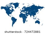 blue world map | Shutterstock .eps vector #724472881