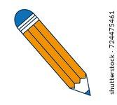 pencil utensil  icon | Shutterstock .eps vector #724475461