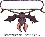 blank label sticker with bat...   Shutterstock .eps vector #724475737