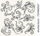 vintage baroque victorian... | Shutterstock .eps vector #724480567