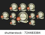 anniversary collection for...   Shutterstock .eps vector #724483384