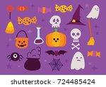 halloween icon pack | Shutterstock .eps vector #724485424