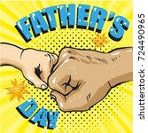 happy fathers day poster in... | Shutterstock .eps vector #724490965