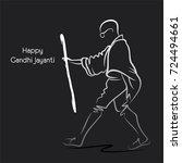 poster of mahatma gandhi...   Shutterstock .eps vector #724494661