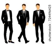 wedding men's suit and tuxedo.... | Shutterstock .eps vector #724496425