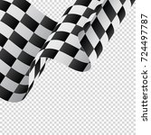 waving checkered flag on... | Shutterstock .eps vector #724497787