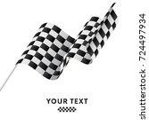 checkered flag. racing flag.... | Shutterstock .eps vector #724497934