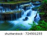 beautiful waterfall in thailand ... | Shutterstock . vector #724501255
