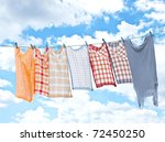 Stock photo laundry hanging over sky 72450250
