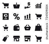 16 vector icon set   cart ... | Shutterstock .eps vector #724509004