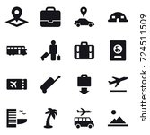 16 vector icon set   pointer ... | Shutterstock .eps vector #724511509