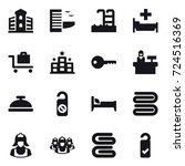 16 vector icon set   building ... | Shutterstock .eps vector #724516369