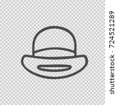 hat vector icon eps 10. simple... | Shutterstock .eps vector #724521289