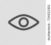 eye vector icon eps 10. simple... | Shutterstock .eps vector #724521301