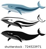 vector image of blue whale and...   Shutterstock .eps vector #724523971