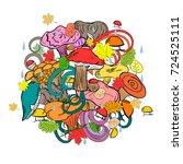 hand drawn cute edible...   Shutterstock .eps vector #724525111