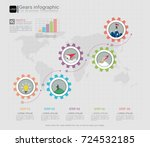 gears infographic template for... | Shutterstock .eps vector #724532185